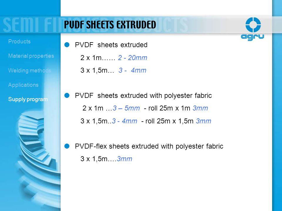 PVDF SHEETS EXTRUDED PVDF sheets extruded 2 x 1m…… 2 - 20mm