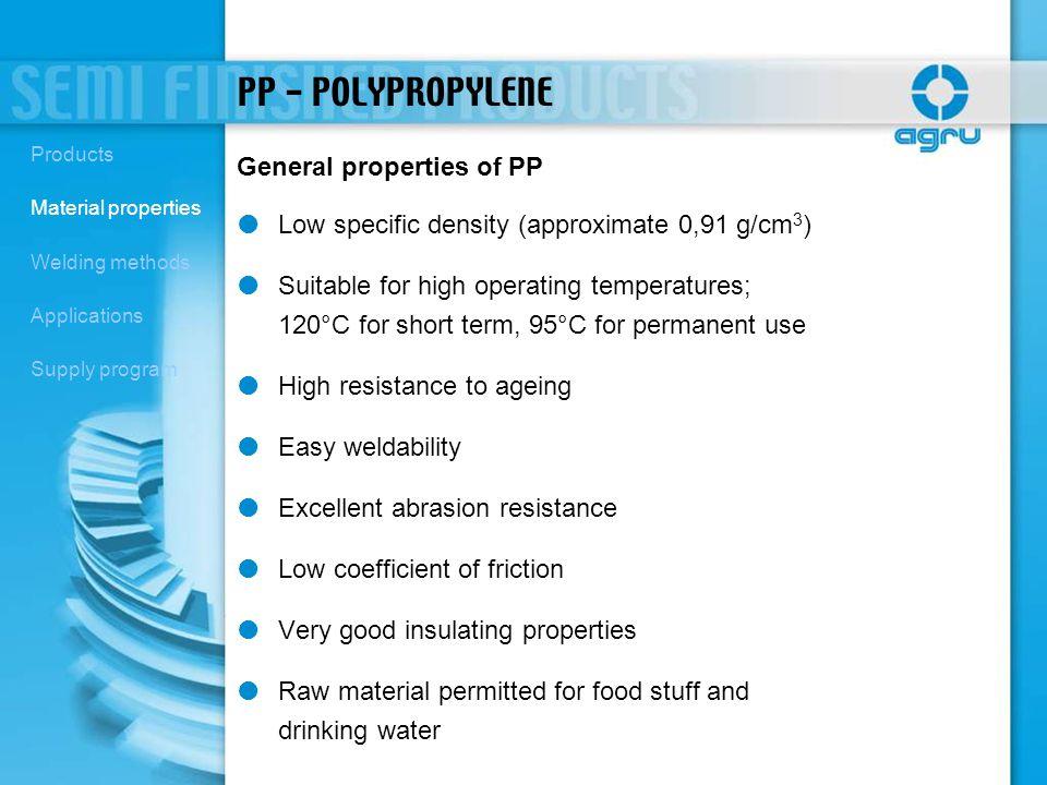 PP - POLYPROPYLENE General properties of PP