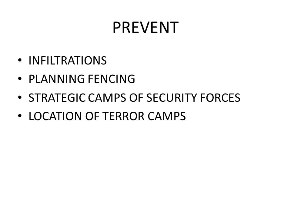 PREVENT INFILTRATIONS PLANNING FENCING
