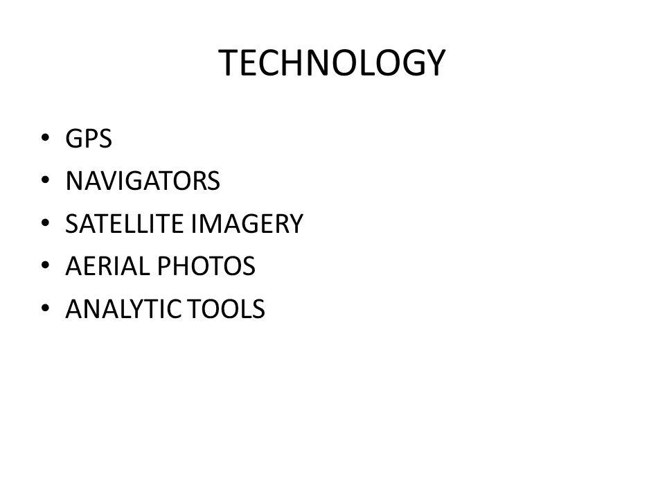 TECHNOLOGY GPS NAVIGATORS SATELLITE IMAGERY AERIAL PHOTOS