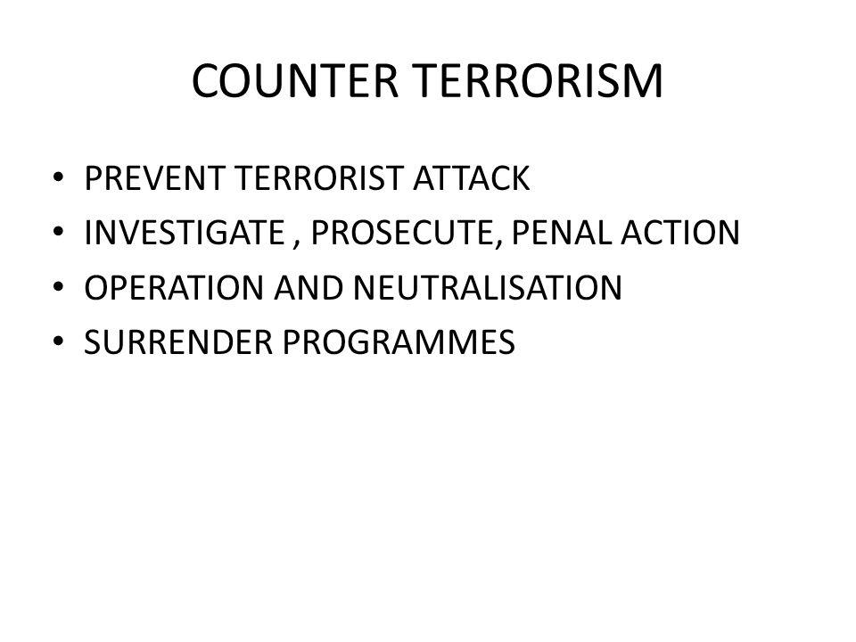 COUNTER TERRORISM PREVENT TERRORIST ATTACK