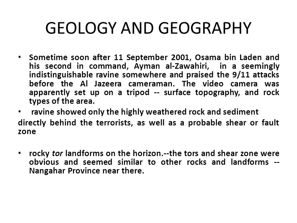 GEOLOGY AND GEOGRAPHY