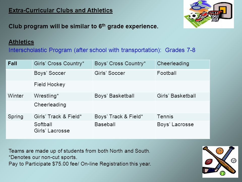 Extra-Curricular Clubs and Athletics
