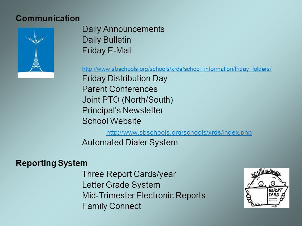 Joint PTO (North/South) Principal's Newsletter School Website