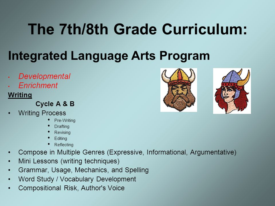The 7th/8th Grade Curriculum: