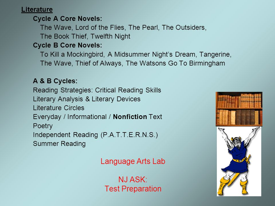 Language Arts Lab NJ ASK: Test Preparation Literature