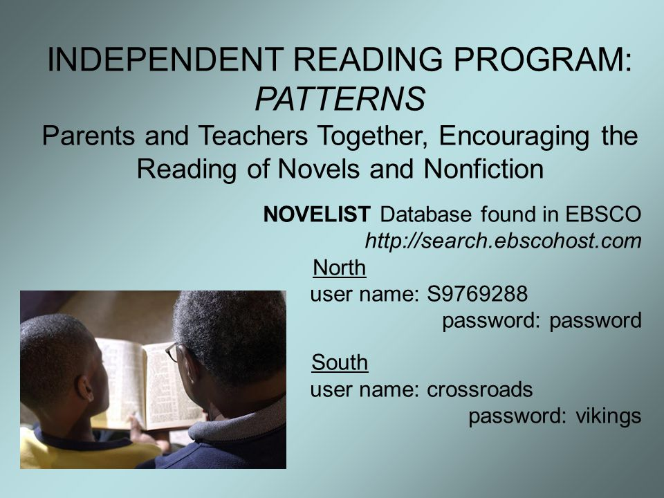 INDEPENDENT READING PROGRAM: PATTERNS