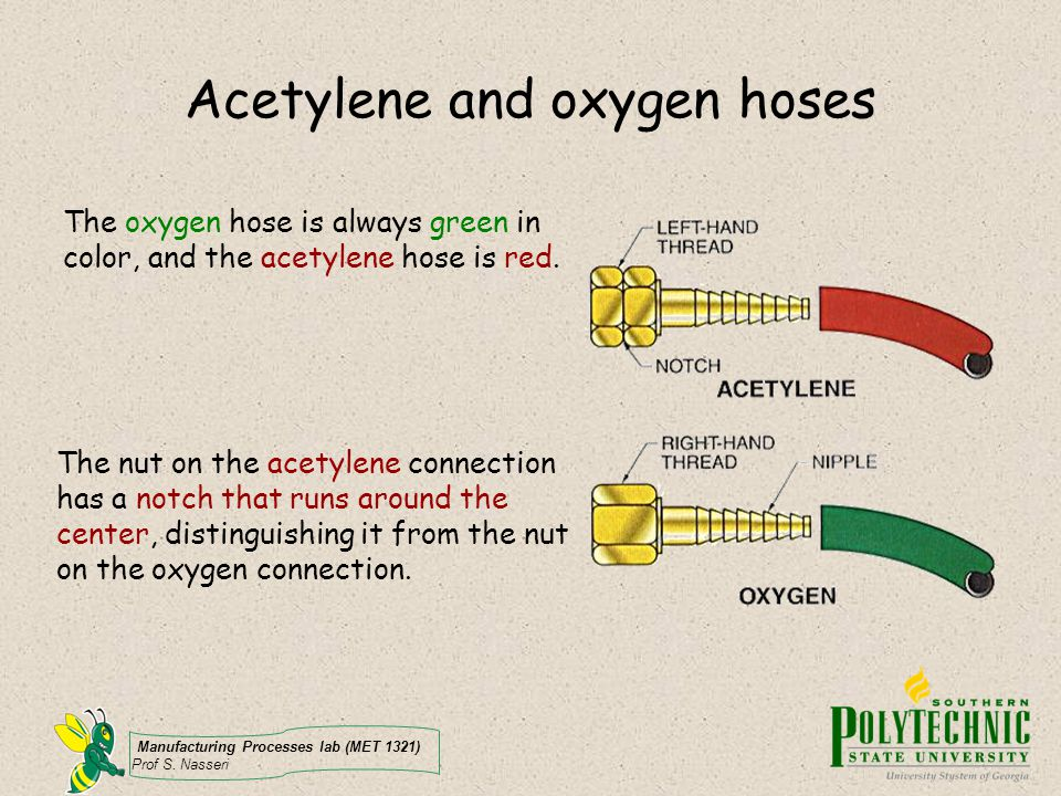 Acetylene and oxygen hoses