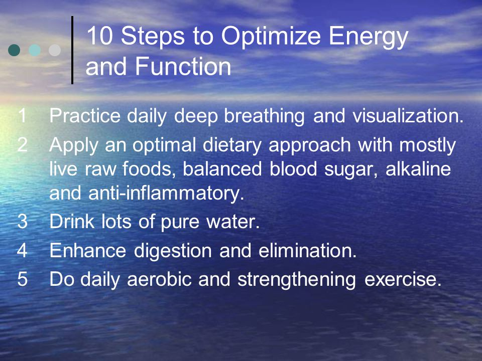 10 Steps to Optimize Energy and Function