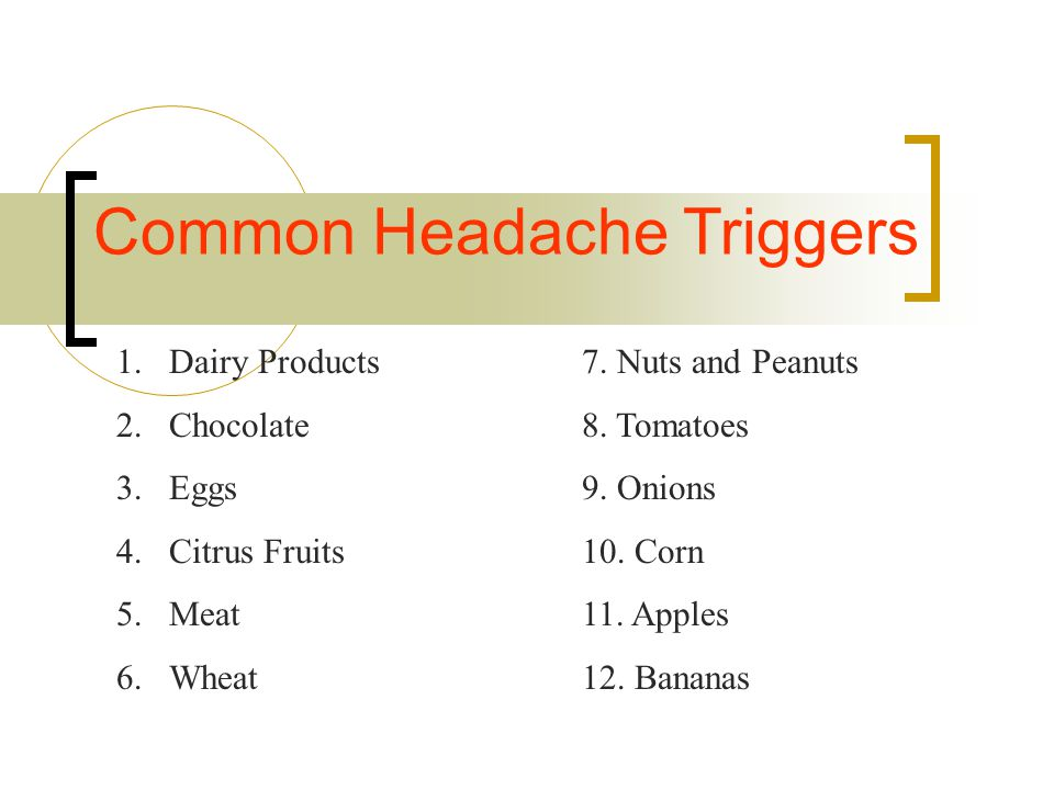 Common Headache Triggers
