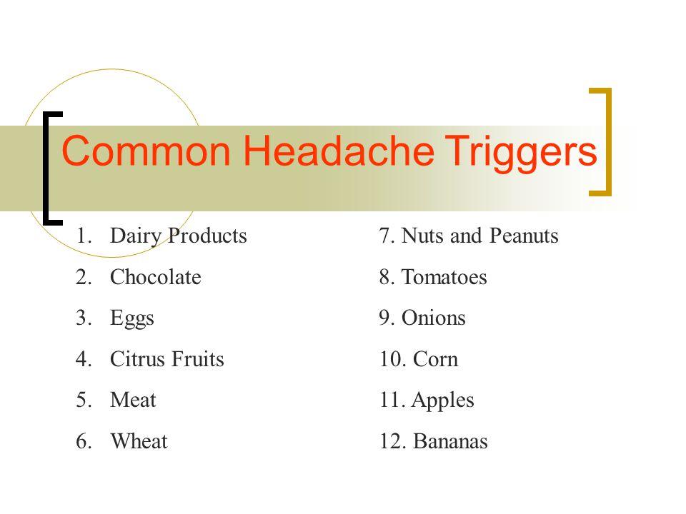 Common Headache Triggers