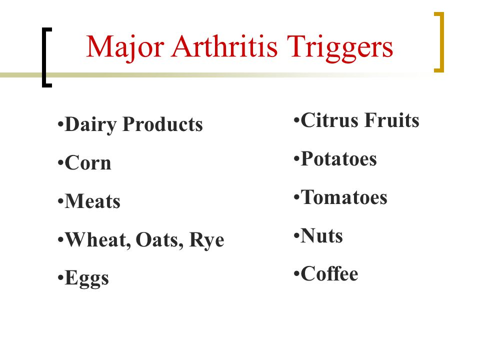 Major Arthritis Triggers