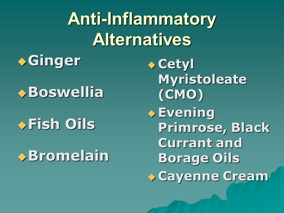 Anti-Inflammatory Alternatives