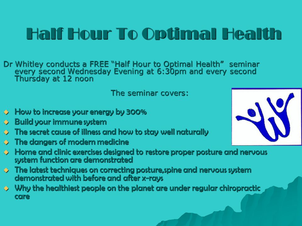 Half Hour To Optimal Health