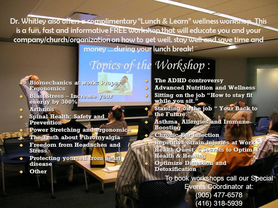 Topics of the Workshop :