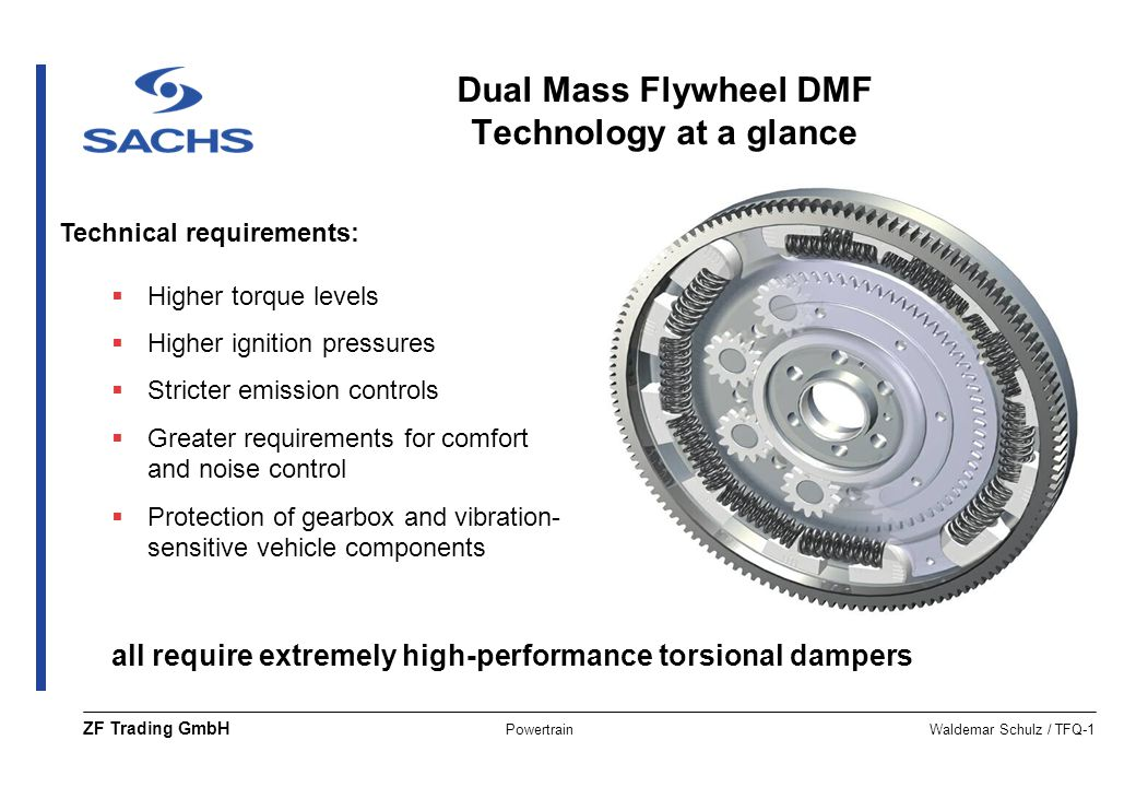 Dual Mass Flywheel DMF Technology at a glance