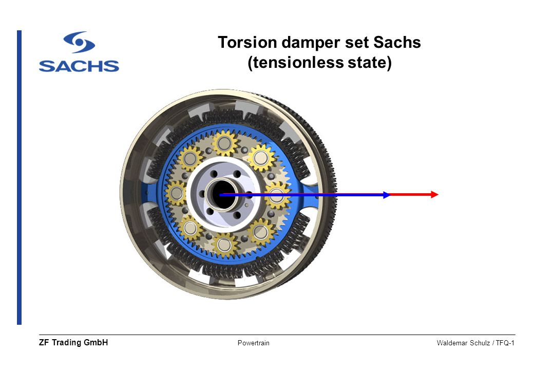 Torsion damper set Sachs (tensionless state)