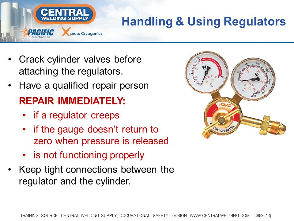 Handling & Using Regulators