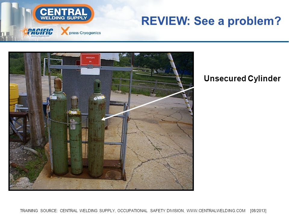 REVIEW: See a problem Unsecured Cylinder