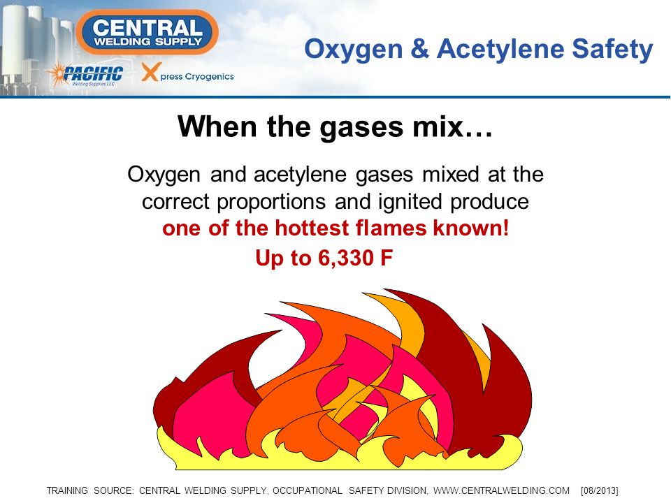 When the gases mix… Oxygen & Acetylene Safety