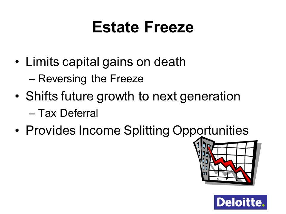 Estate Freeze Limits capital gains on death