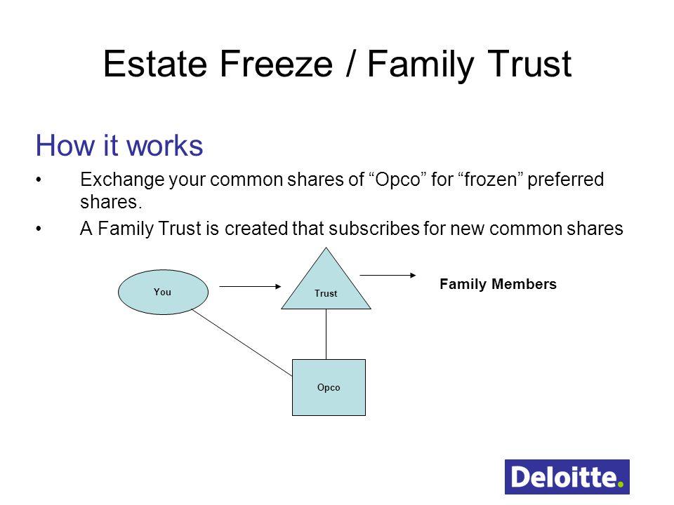 Estate Freeze / Family Trust