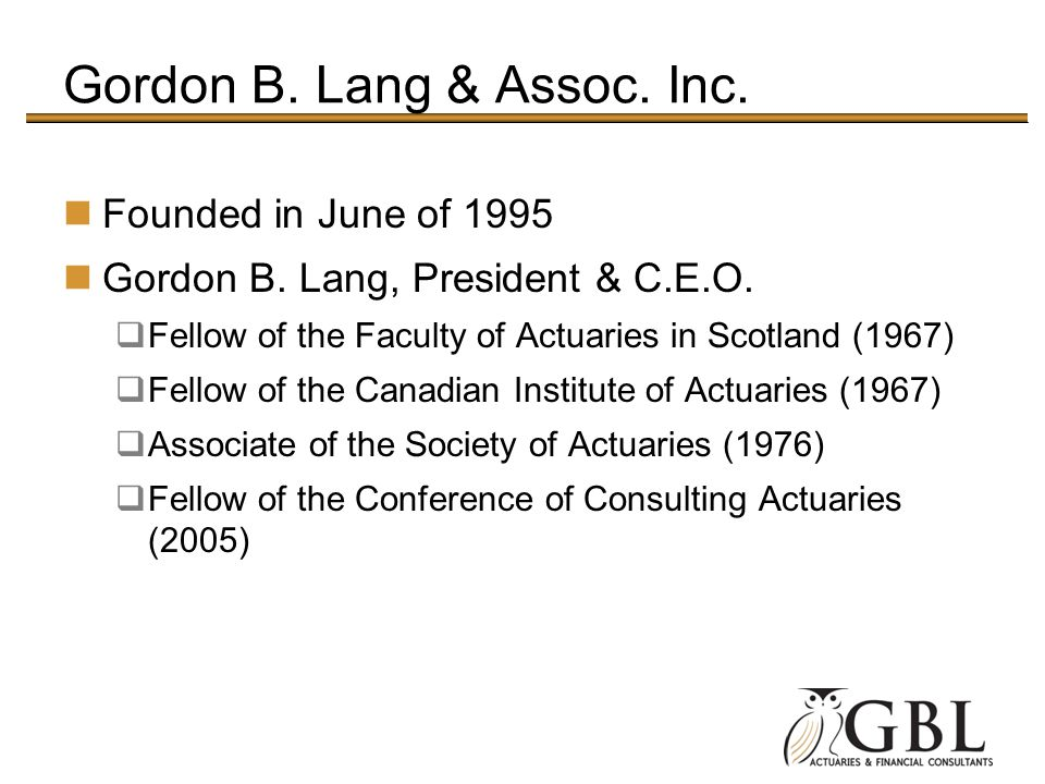 Gordon B. Lang & Assoc. Inc.
