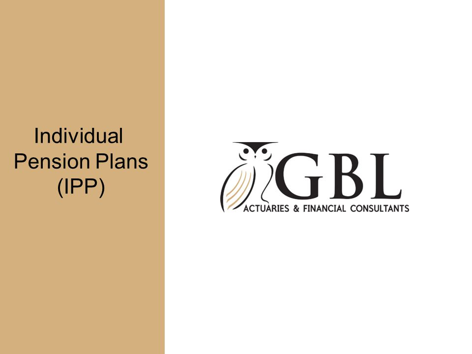 Individual Pension Plans (IPP)