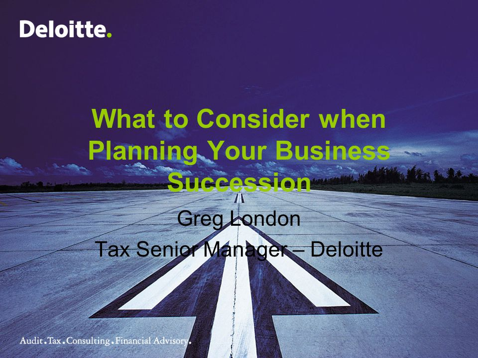 What to Consider when Planning Your Business Succession
