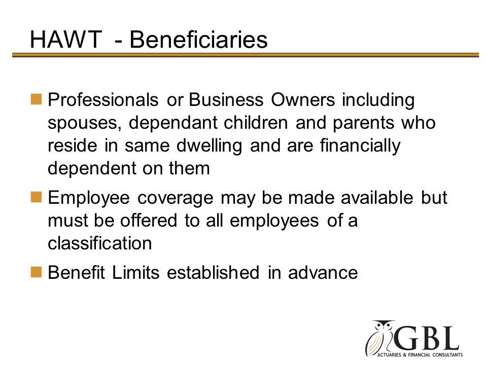 HAWT - Beneficiaries