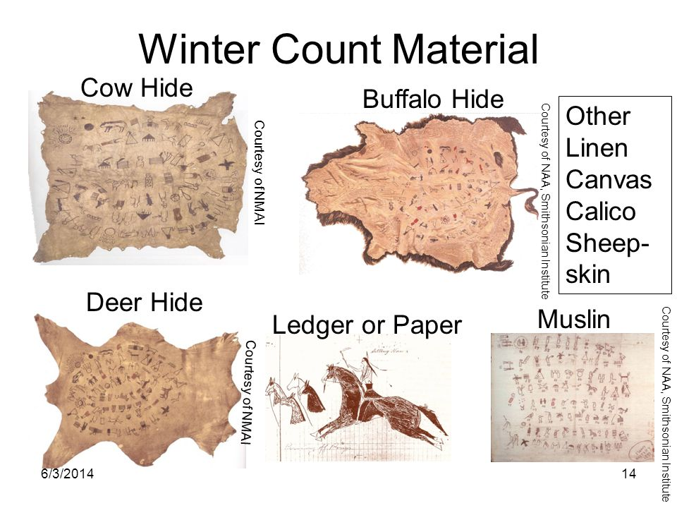 Winter Count Material Cow Hide Buffalo Hide