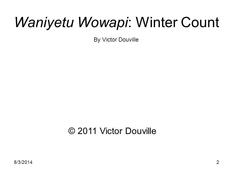 Waniyetu Wowapi: Winter Count