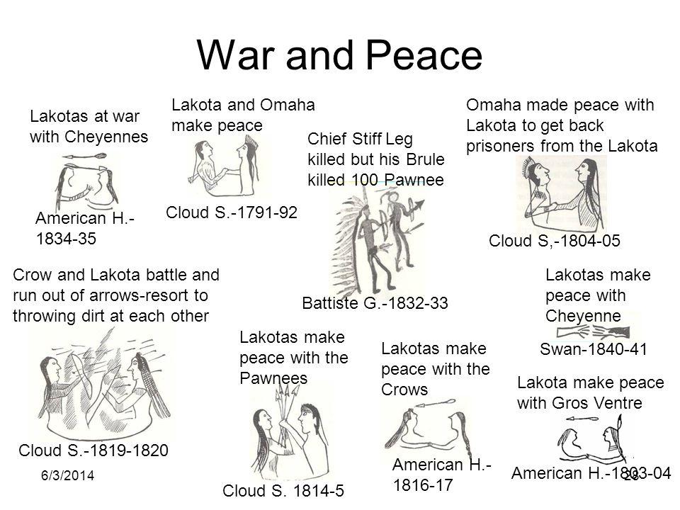War and Peace Lakota and Omaha make peace