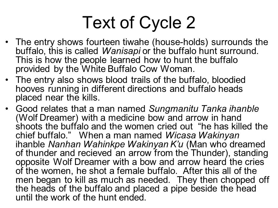 Text of Cycle 2