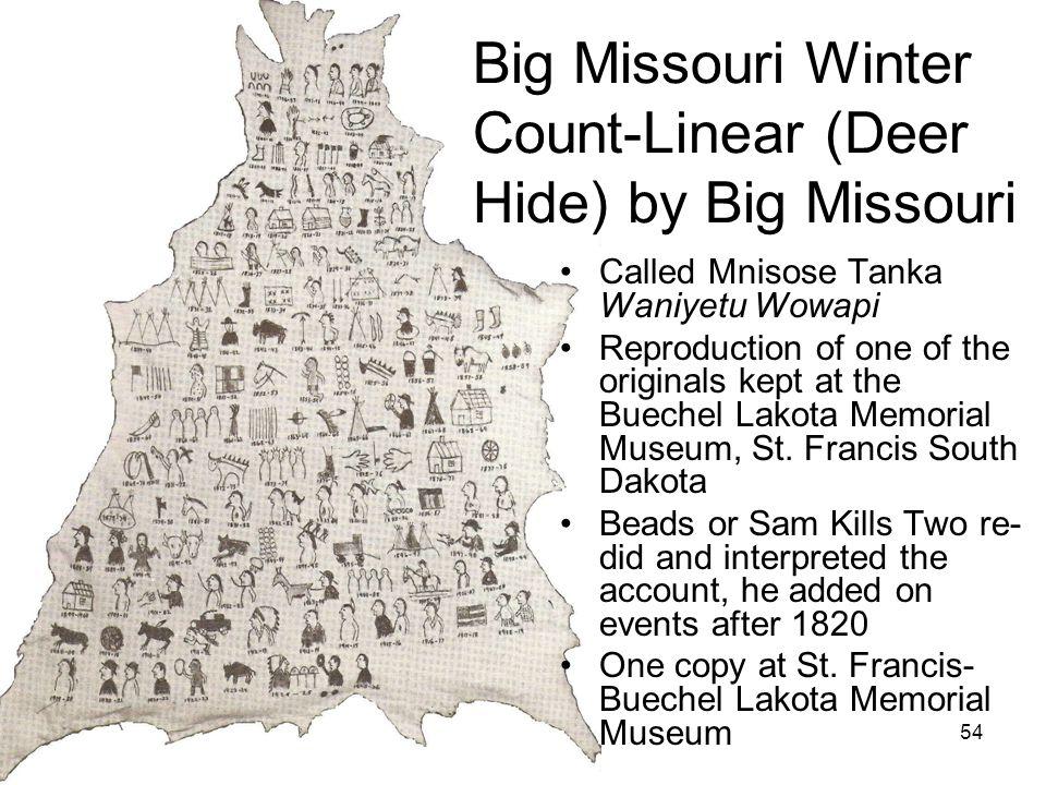 Big Missouri Winter Count-Linear (Deer Hide) by Big Missouri