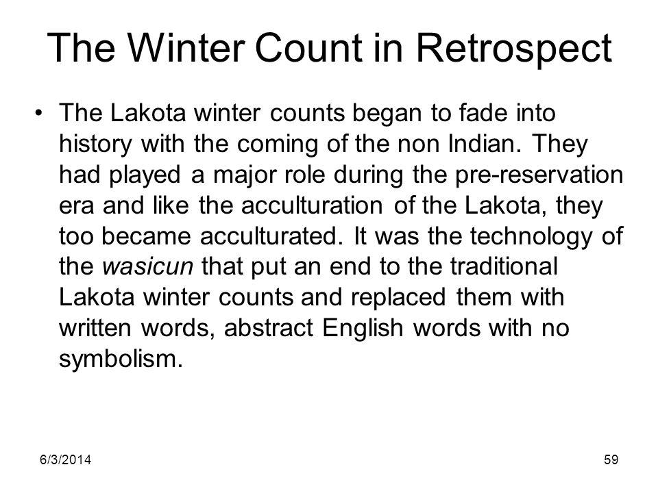 The Winter Count in Retrospect
