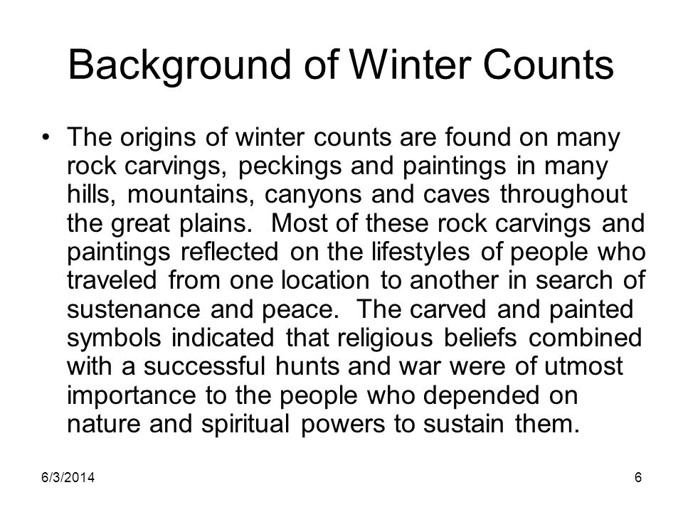 Background of Winter Counts