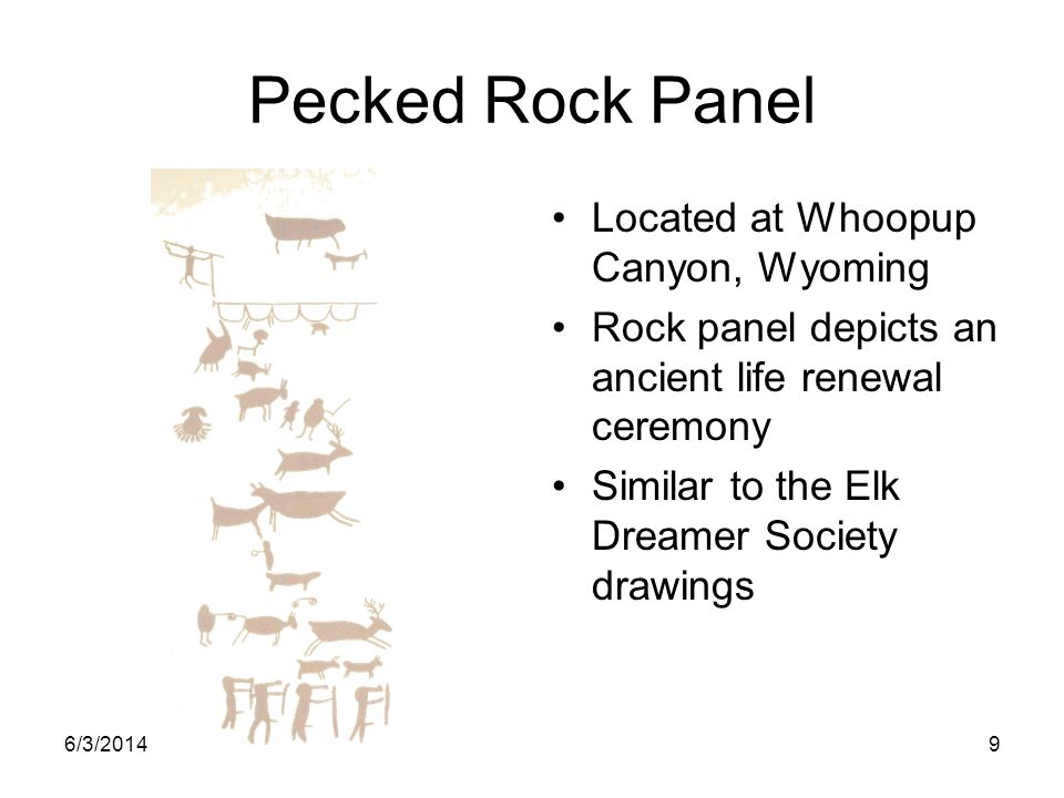 Pecked Rock Panel Located at Whoopup Canyon, Wyoming