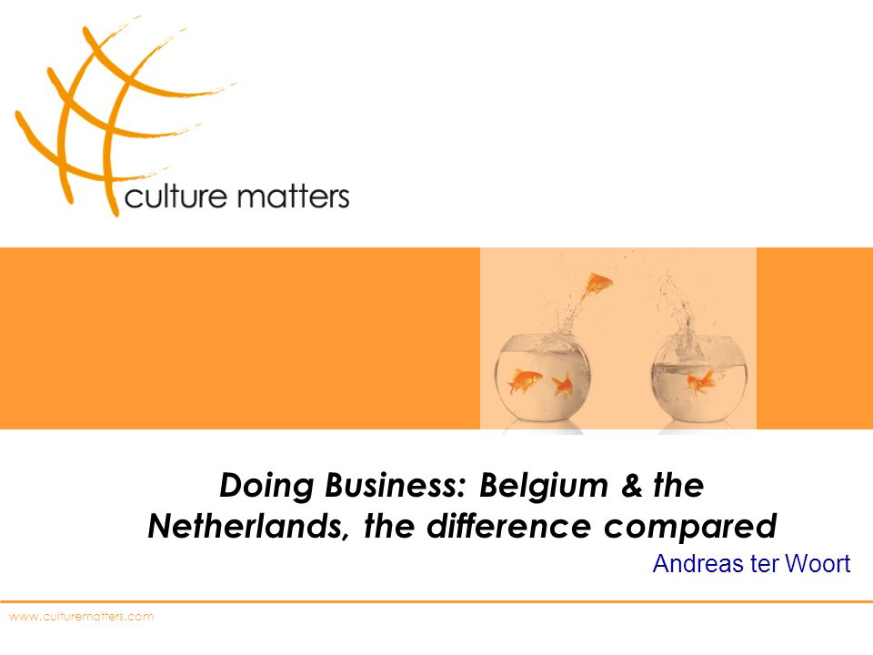 Doing Business: Belgium & the Netherlands, the difference compared