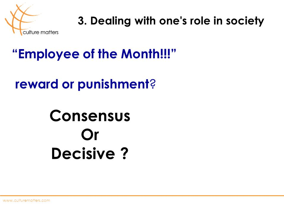3. Dealing with one s role in society