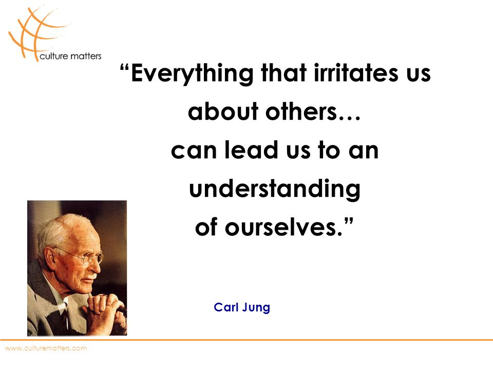 Everything that irritates us about others… can lead us to an understanding of ourselves.