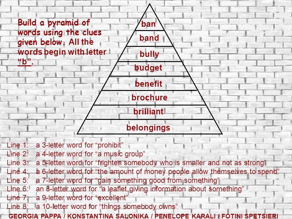 ban band bully budget benefit brochure brilliant belongings