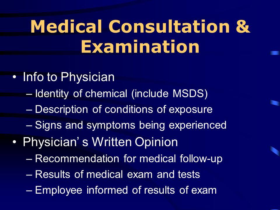 Medical Consultation & Examination