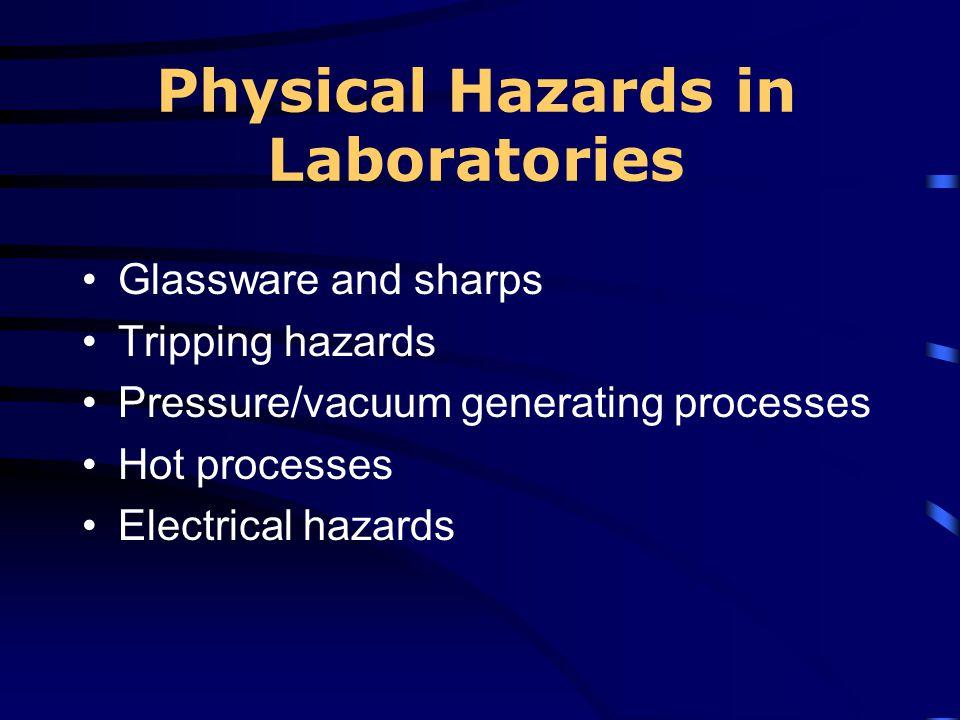 Physical Hazards in Laboratories