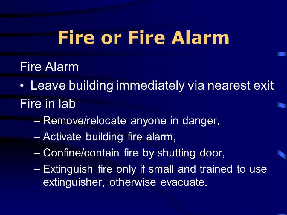 Fire or Fire Alarm Fire Alarm