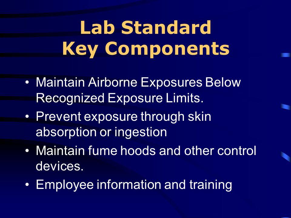 Lab Standard Key Components