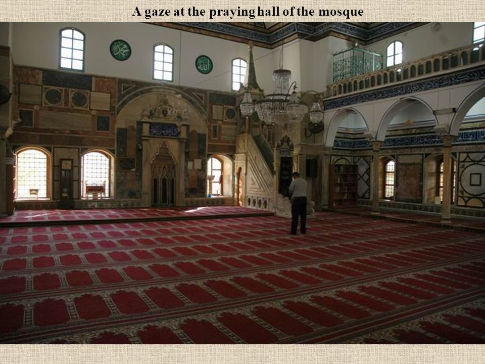 A gaze at the praying hall of the mosque