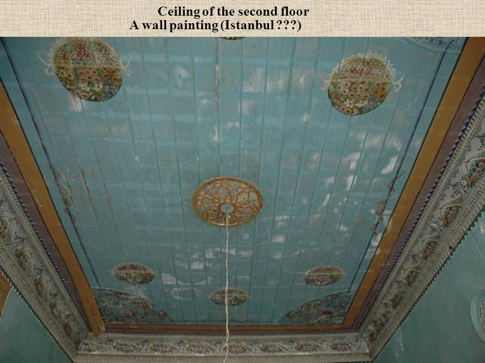 Ceiling of the second floor