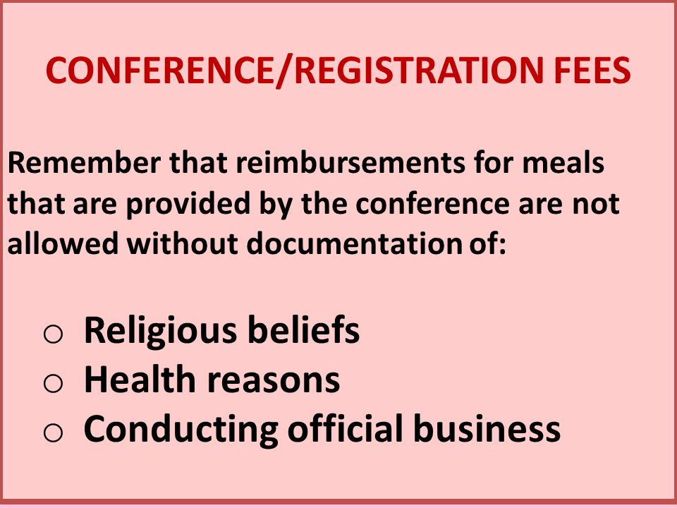 CONFERENCE/REGISTRATION FEES
