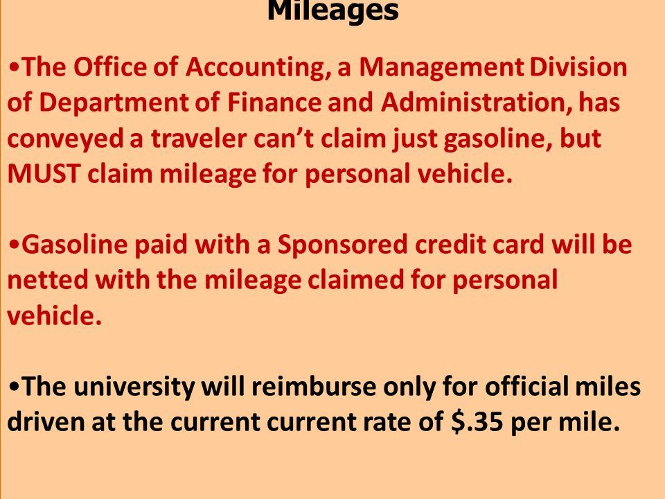 Mileages